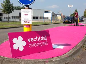 Vechtdal adopteert roze vluchtheuvels in Wijchen.