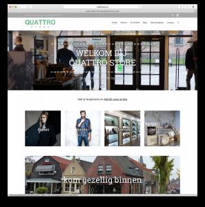 responsive website Quattro Store